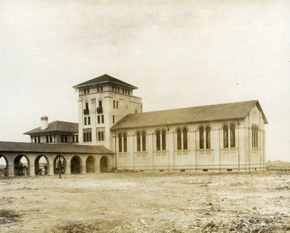 The institute commons were completed in 1912.
