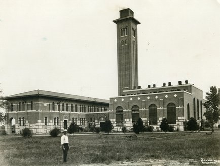 The mechanical lab and power house were completed in 1912.